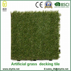 wholesale plastic garden tile interlocking artificial garden floor tiles