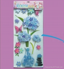 3D flowers decor decal s