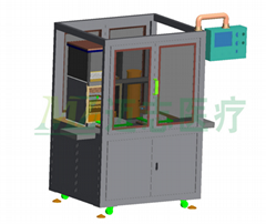 Liquid adding atomization machine for vacuum collecting vessel