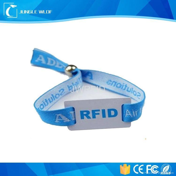 RFID Festival Woven Wristband Tag 1