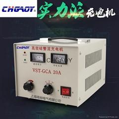 高效硅整流摩托車蓄電池充電機6/12/24可調10A充電機船用充電機