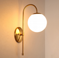 Glass Wall Sconce Lamp