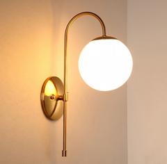 時尚簡約單頭玻璃球壁燈