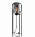 Glass Floor Lamp with handblown Glass Shade