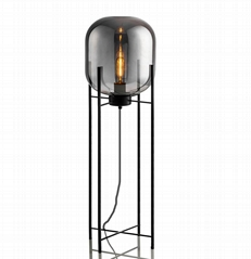 Glass Floor Lamp with ha