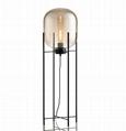 Glass Floor Lamp with handblown Glass Shade 2