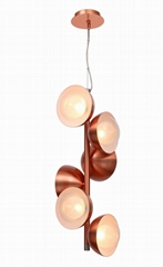 Handblown Double Glass Pendant Lamp  FD-8016-060