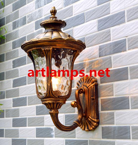 戶外防水壁燈歐式陽台室外牆壁燈復古庭院花園大門過道走廊燈  FD-HW5004 1