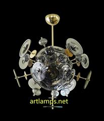 Mouth blown glass pendant Chandelier  Art  Glass Chandelier lamps