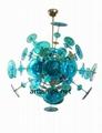 吹制玻璃吊灯创意欧式玻璃客厅吊灯现代玻璃卧室灯