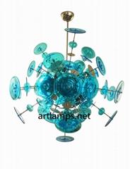 Hand blown glass pendant Chandelier  Art  Glass Chandelier lamps fixture