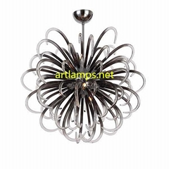 手工玻璃吊燈創意歐式玻璃客廳吊燈現代玻璃臥室燈