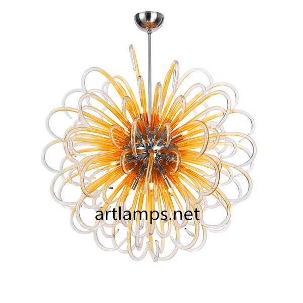 纯手工吹制玻璃吊灯创意欧式玻璃客厅吊灯现代玻璃卧室灯  1