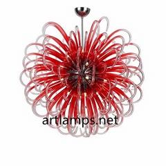 純手工吹制藝朮玻璃吊燈創意歐式玻璃客廳吊燈現代玻璃臥室燈