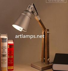 家居北欧装饰台灯铁艺台灯古铜色卧室台灯创意台灯