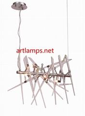 純手工藝朮玻璃吊燈創意歐式玻璃客廳吊燈
