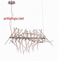 純手工藝朮玻璃吊燈創意歐式玻璃客廳吊燈水晶玻璃吊燈