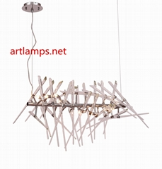 Hand Made glass pendant lamp Crystal  Glass Chandelier Lamp