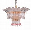 Designer blown Chandelier  Art  Glass