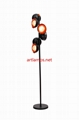 Handblown Glass Ball Shade Floor Lamp