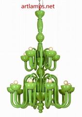 后現代風格手工玻璃吊燈簡約客廳燈創意臥室燈 FD-8046-15