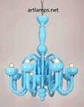 Italian Modern Art  Glass Pendant Lamp
