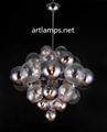 吹制玻璃球吊灯创意欧式玻璃客厅吊灯玻璃吊灯