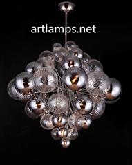 手工吹制玻璃球吊燈創意歐式玻璃客廳吊燈玻璃吊燈