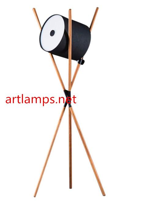 Modern Wooden Floor Lamp Antique Wooden floor lamp fixture 1