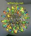LED装饰吊灯LED火树银花工程定制吊灯LED可调节大小装饰吊灯彩色 1