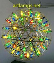 LED装饰吊灯LED火树银花工程定制吊灯LED可调节大小装饰吊灯彩色