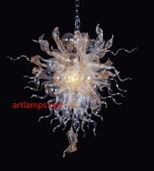 原色吹制艺术玻璃吊灯异形炉台手工玻璃吊灯