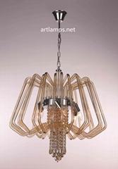 時尚創意手工玻璃吊燈家居客廳玻璃吊燈 FD-8011-6