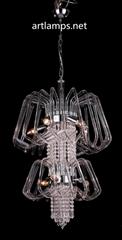 簡約手工玻璃彎管吊燈 創意吹制玻璃吊燈FD-8011-8
