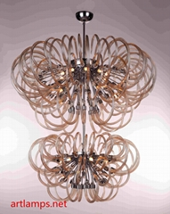 Modern Original Handmade Glass Designer Chandelier Glass pendant lamp FD-8019-24