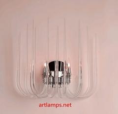現代時尚簡約單頭玻璃管壁燈水晶玻璃壁燈 FD-BD8028-2