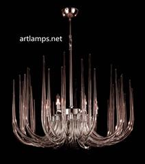 后現代時尚創意手工玻璃枝形吊燈客廳玻璃吊燈臥室燈 FD-8028-6