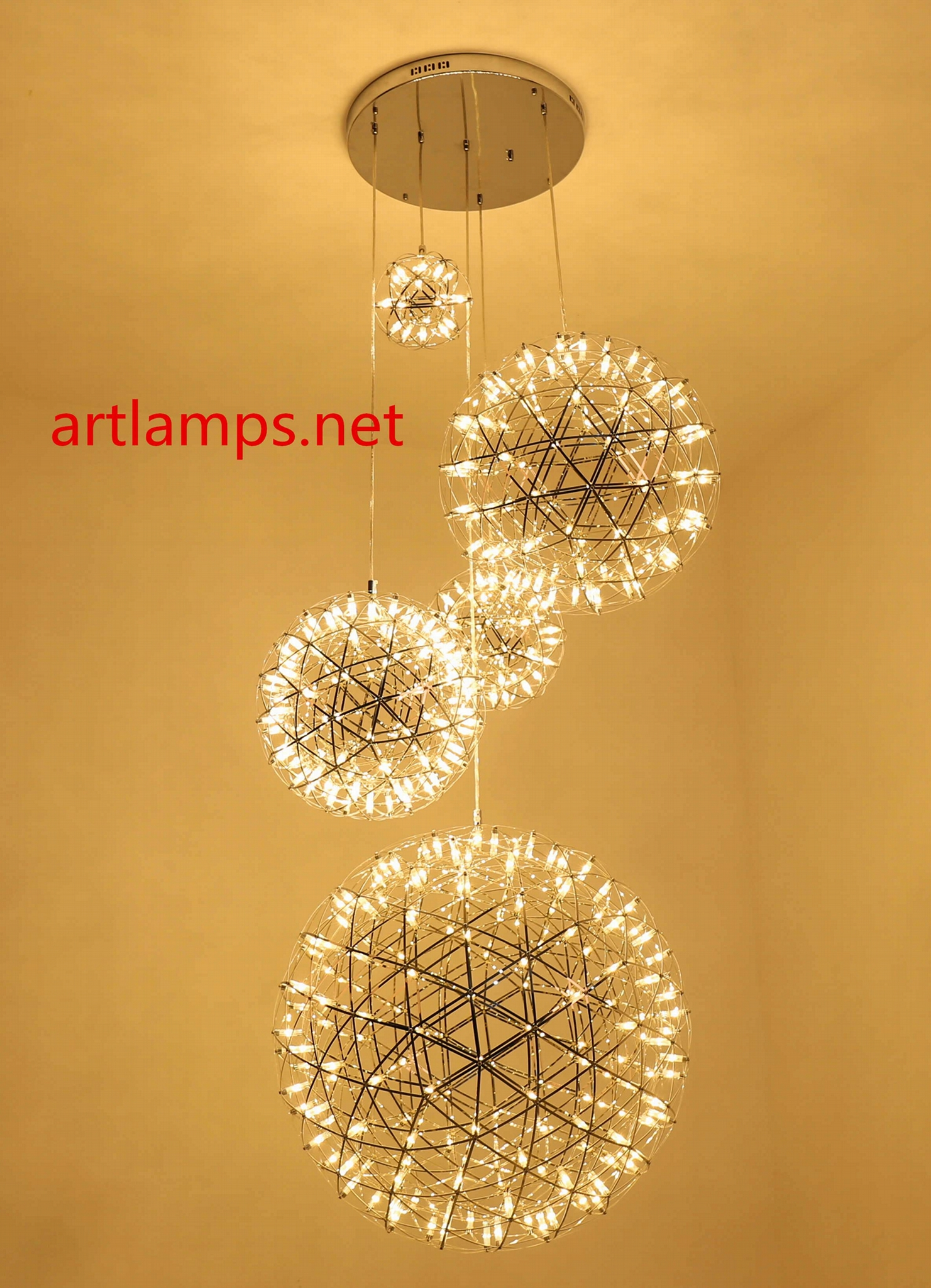 LED Custom made chandeliers led Colourful decoration pendant chandelier lamp