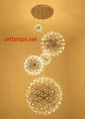 LED裝飾吊燈LED工程定製吊燈LED可調節大小裝飾吊燈