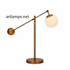 現代時尚玻璃臺燈創意雙玻璃球臺燈FD-TD8066-1