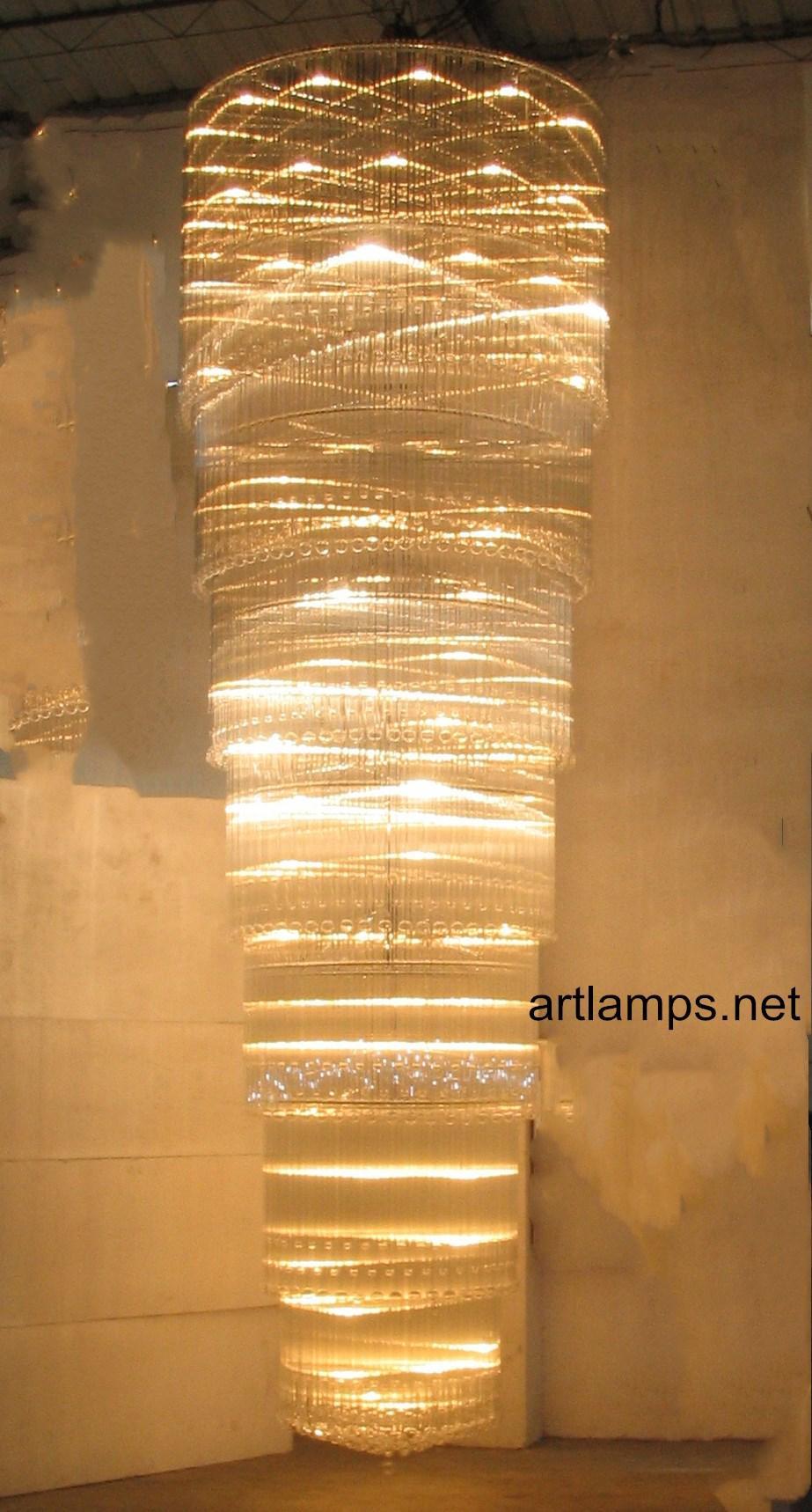 藝朮水晶玻璃吊燈手工玻璃吊燈酒店定製玻璃吊燈 1