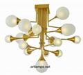 手工吹制玻璃球吊灯创意欧式玻璃
