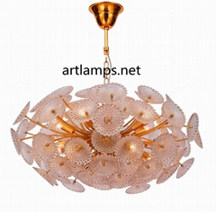 Designer Mouth blown glass pendant Chandelier  Art  Glass Chandelier lamps