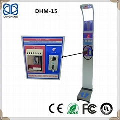 DHM-15 Height Measure Electronic Body Weight Scale Coin operated scales
