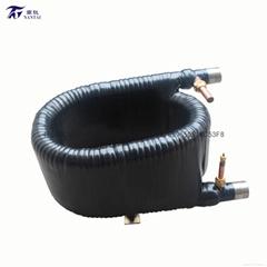 热泵行业 信得过品牌南钛供应南钛5匹钛同轴套管换热器钛螺纹管