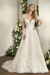 2017 Latest design gorgeous bridal dress