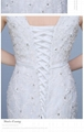 classic Floor Length Spaghetti sleeveless appliqued and beaded mermaid Wedding D 4