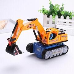 New Version Luminous Rotating Electric Excavator Toy