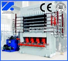 High glossy flooring multilayer melamine laminating hot press machine