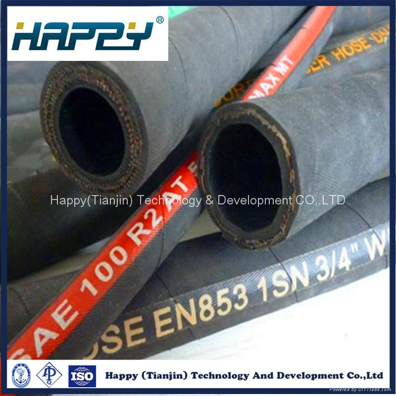 R1 Flexible Steel Wire Braided Hydraulic Rubber Hose 2